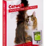 W-CDW Wood Fitting Slim Line Cat Door White Box