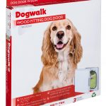 W-DDW Wood Fitting Dog Door White Box