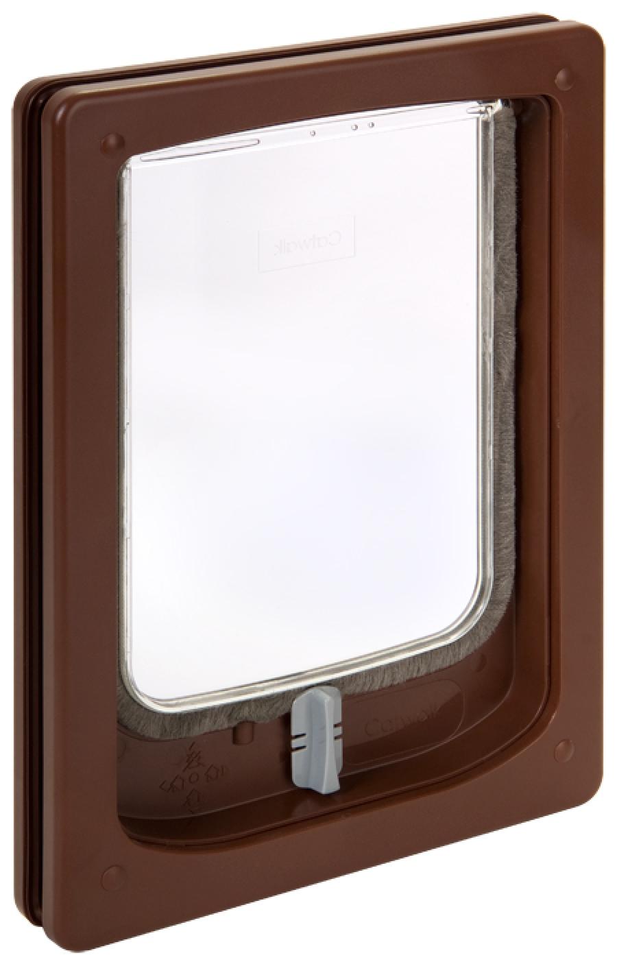 W-SDDB Wood Fitting Small Dog Door Slim Line Brown.jpg