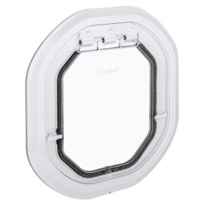 G-DDSLW Glass fitting dog door slim white