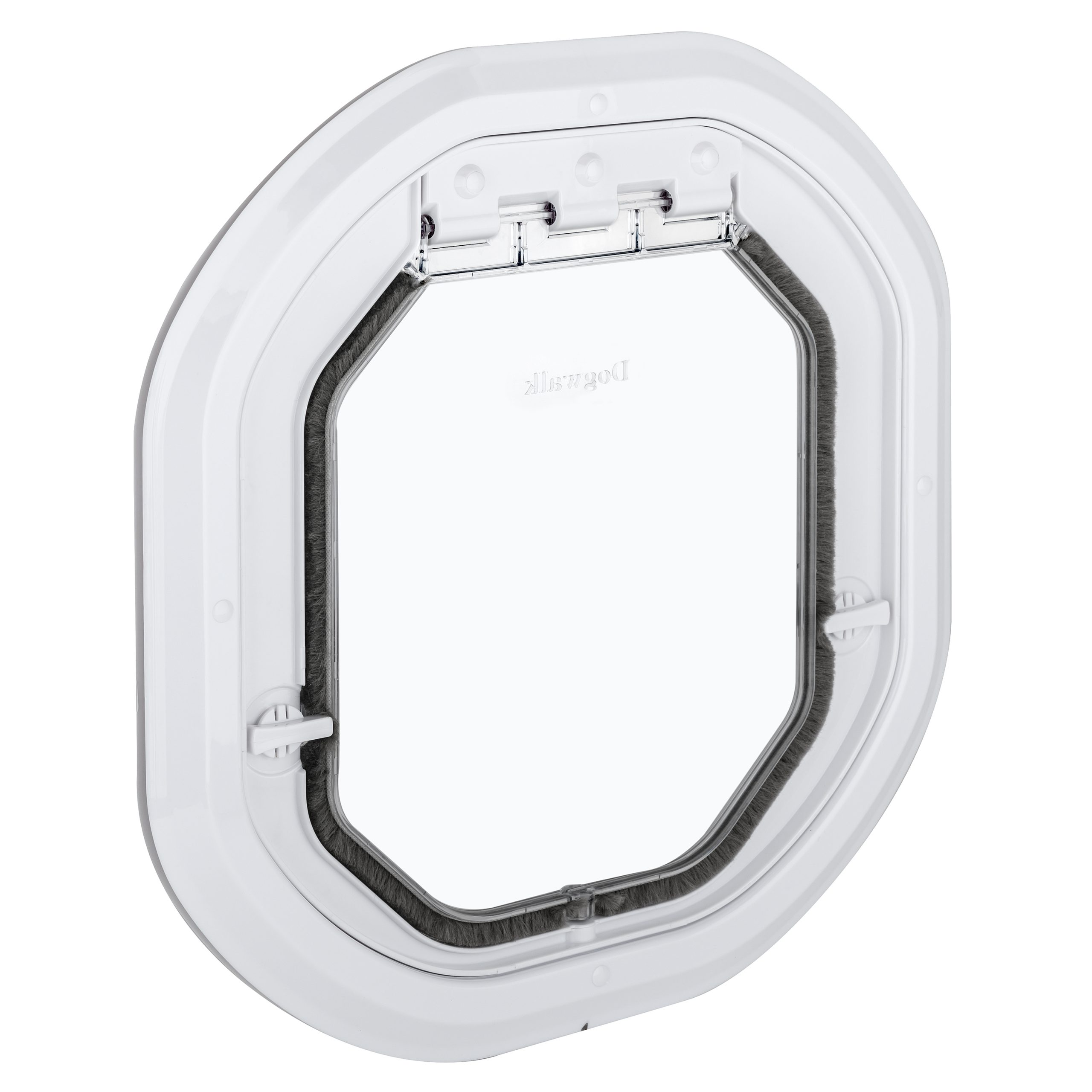 G-DDSLW Glass fitting dog door slim white