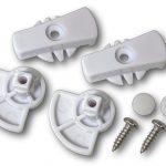G-LDDDW Glass fitting dog door locking dial set white