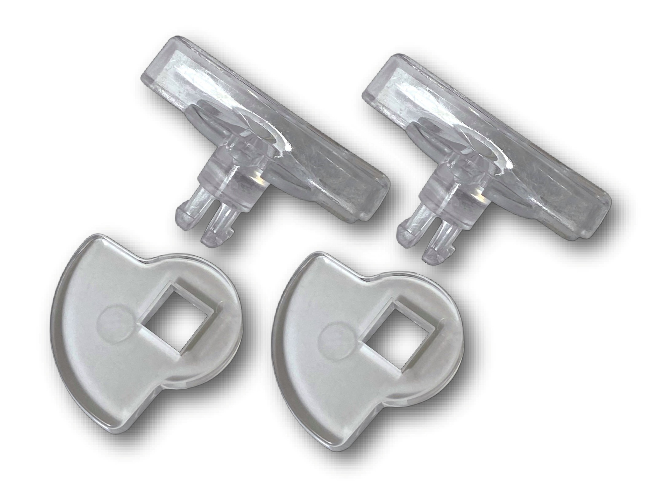 G-LDSDDC Glass fitting maxi pet door locking dial set clear